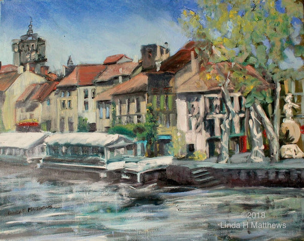 Agde in April - Original Oil Painting