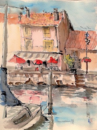 """Cote Sud-Marseillan"" Watercolour & Ink"