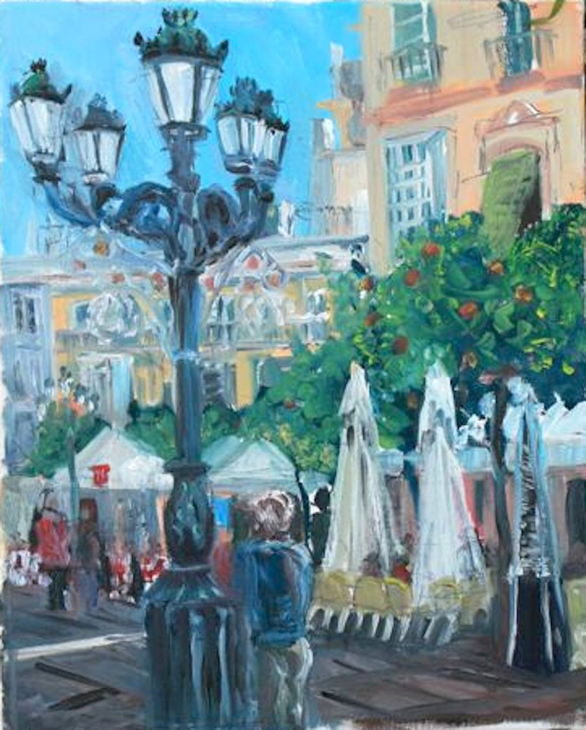 Cadiz Lamps - Oil on Canvas