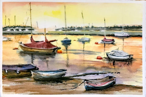 """Wells Next the Sea"" - Watercolour & Ink"