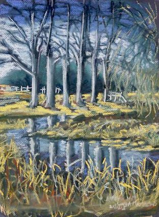 """Bintree Water Meadows"" Norfolk - Pastel"