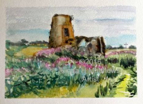 St Benet's Abbey - Gatehouse Watercolour & Ink