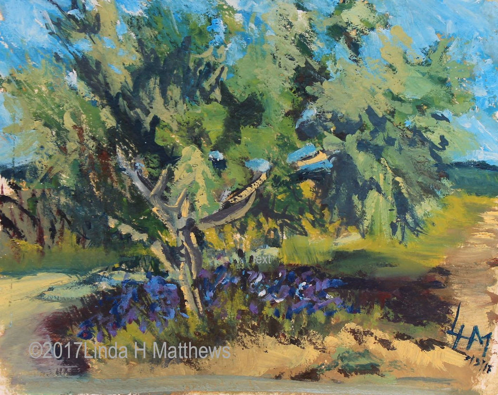 """Olive ansd Iris"" L'Herault France"" Oil"