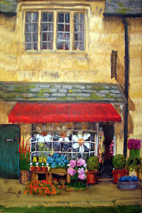 """ Cotswold Flowers"" - Oil"