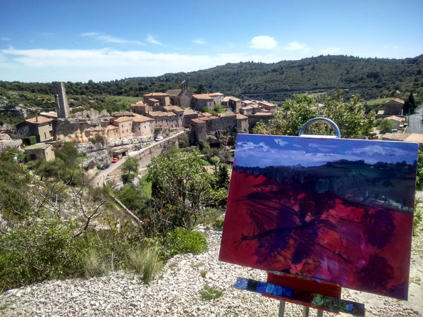 Minerve, L'Herault, Occitanie - Original Oil Painting