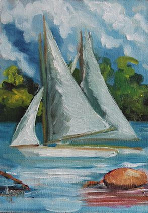 """Barton Regatta"" -Oil"