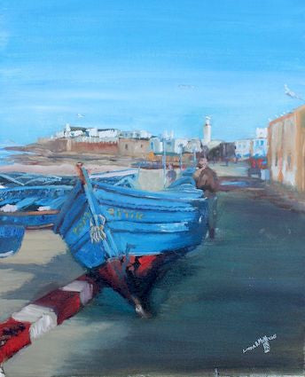 """Essaouira Medina, from the Port"" _ Oil"