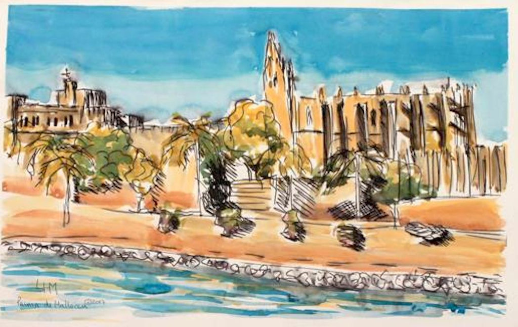 Santa Maria - Palma de Mallorca - Watercolour & ink