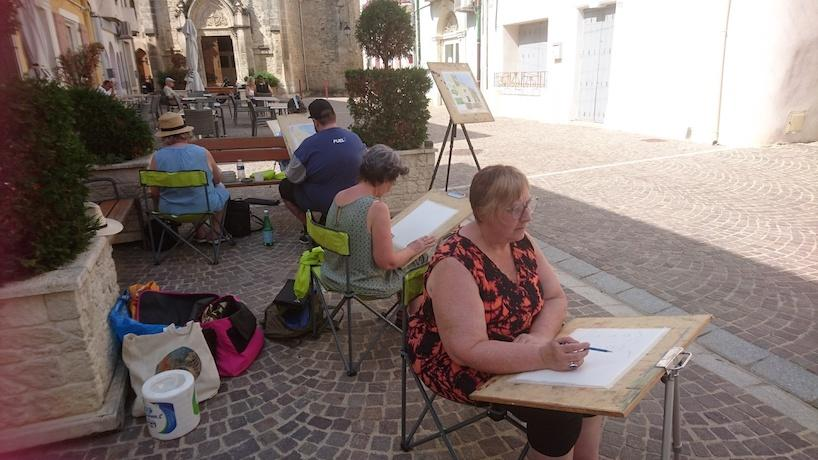 Grau d'Agde France Oil Plein air Linda H Matthews