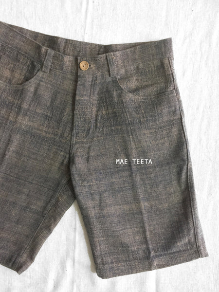 Un-dye brown Cotton Men Shorts