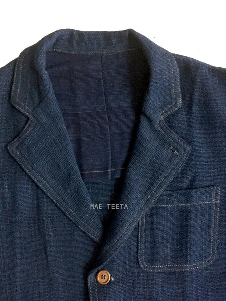 Plain Indigo Blazer (Thick Cotton)