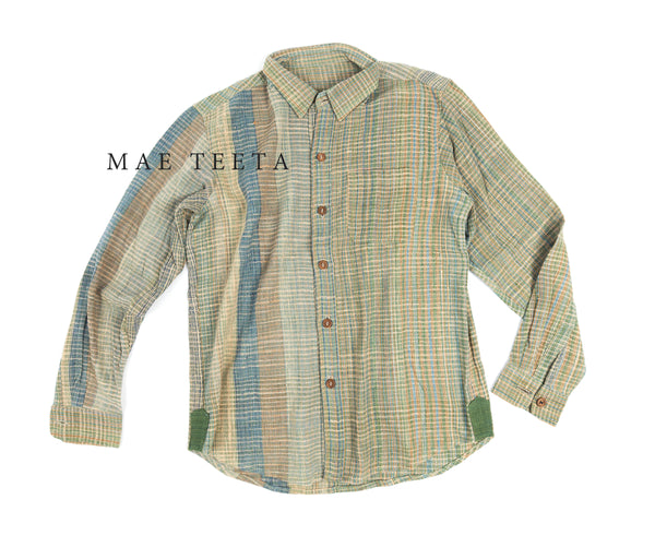 Hemp+Cotton Green Shirt