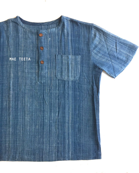 Polo Indigo Men, Light Corduroy, Short sleeves
