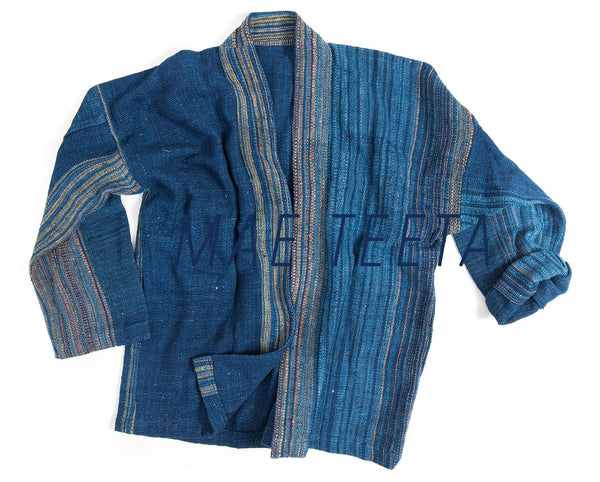 Outer Jacket with Seamless woven (Thick Hand Spun Cotton*)