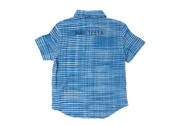 Short Sleeves Shirt (Women) Light Stripe Sky