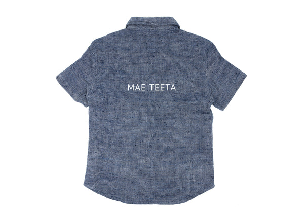 Short Sleeve Shirt (Women) denim Indigo color