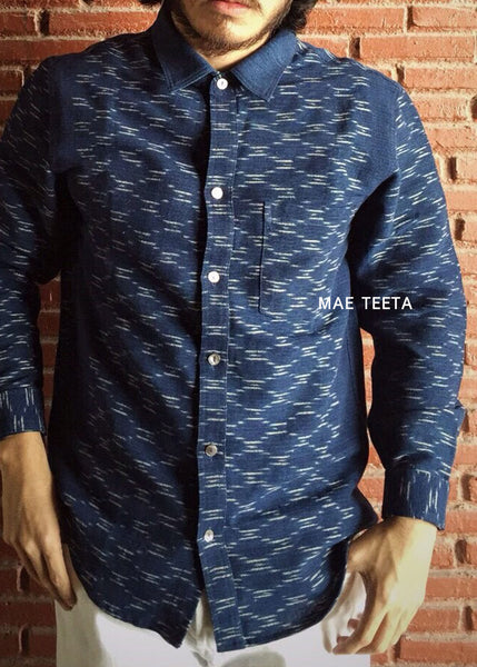 Long sleeve IKAT shirt