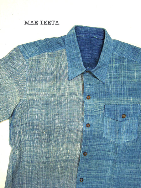 Light indigo HEMP shirt