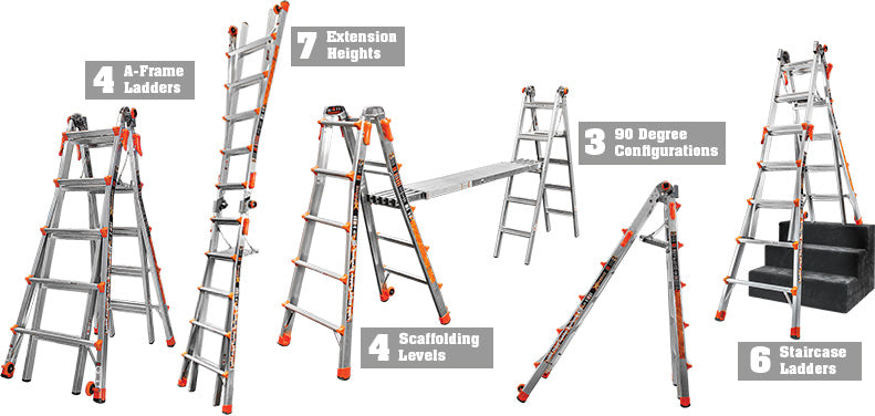 Little Giant Xtreme Ladder configurations