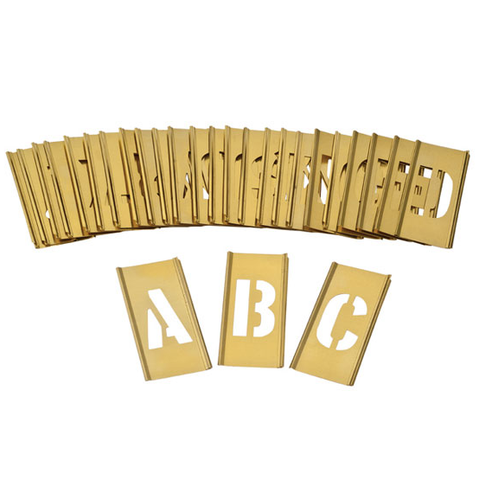 Brass Interlocking Stencil - 100mm - A-Z