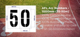 AFL Arc Number Stencil - 1000mm _ 35 - 40 - 45 - 50m