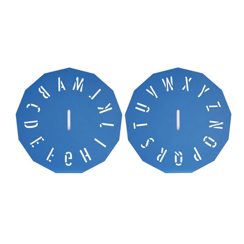 Poly Clock Stencil - 50mm - A-Z