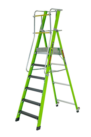 Stadium Ladder with Platform - 6 Step