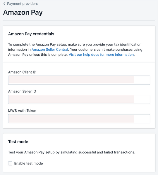 you need the API keys to add to Amazon Pay- Veronica Jeans Shopify Queen & Bestselling Author ' Shopify Made Easy'
