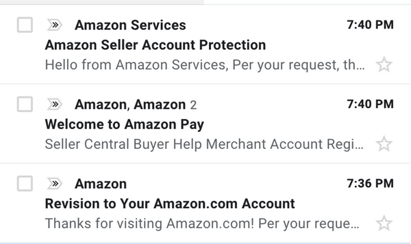 email from Amazon Pay- Veronica Jeans Shopify Queen & Bestselling Author ' Shopify Made Easy'