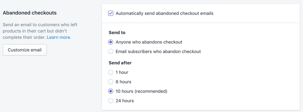 abandoned cart checkout options in Shopify store- Veronica Jeans Shopify Queen & Bestselling Author ' Shopify Made Easy'