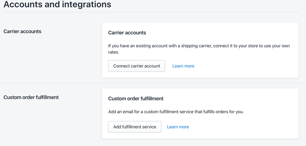 accounts and integration of shipping carriers for Shopify- Veronica Jeans Shopify Queen & Bestselling Author ' Shopify Made Easy'