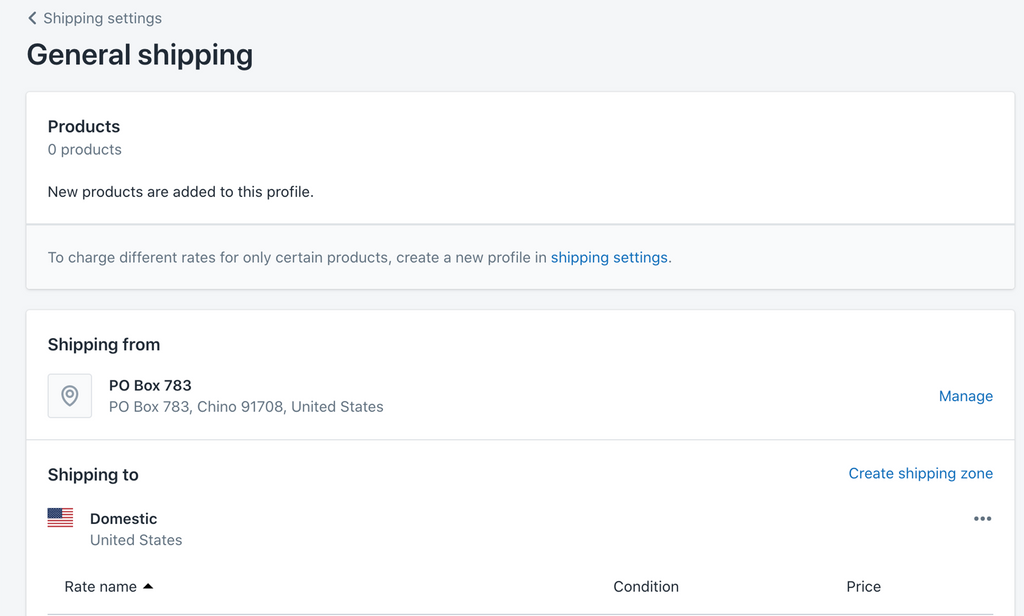 new window to shipping profiles in Shopify- Veronica Jeans Shopify Queen & Bestselling Author ' Shopify Made Easy'