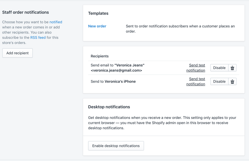 desktop and mobile notifications- Veronica Jeans Shopify Queen & Bestselling Author ' Shopify Made Easy'