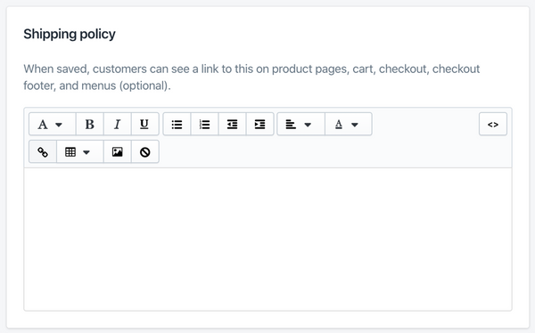 add shipping policy details to Shopify - Veronica Jeans Shopify Queen & Bestselling Author ' Shopify Made Easy'