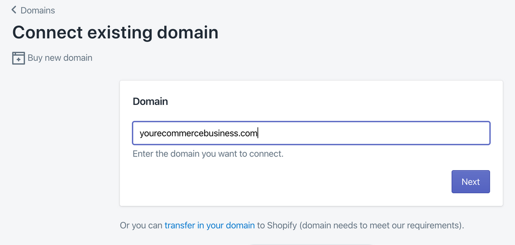 creating your Shopify domain name in Shopify hosting - Veronica Jeans Ecommerce Business Consultant & Bestselling author - Shopify Made Easy