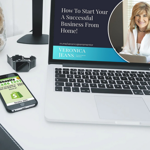 Book & Course   veronica jeans best selling author, ecommerce Shopify coach and mentor