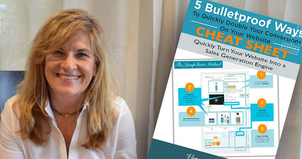 website cheatsheet - 5 easy & bulletproof ways to double your sales online