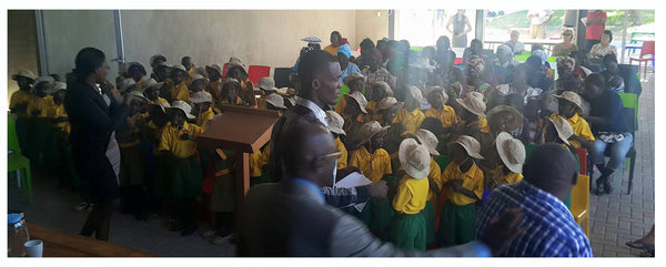 Opening day for school - Educate Namibian Kids