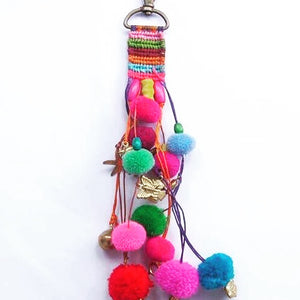 Pom Pom with Charms Key Ring