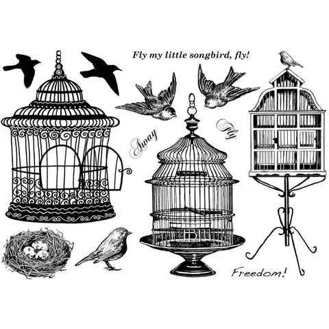 Beautiful Birdcages Stamp