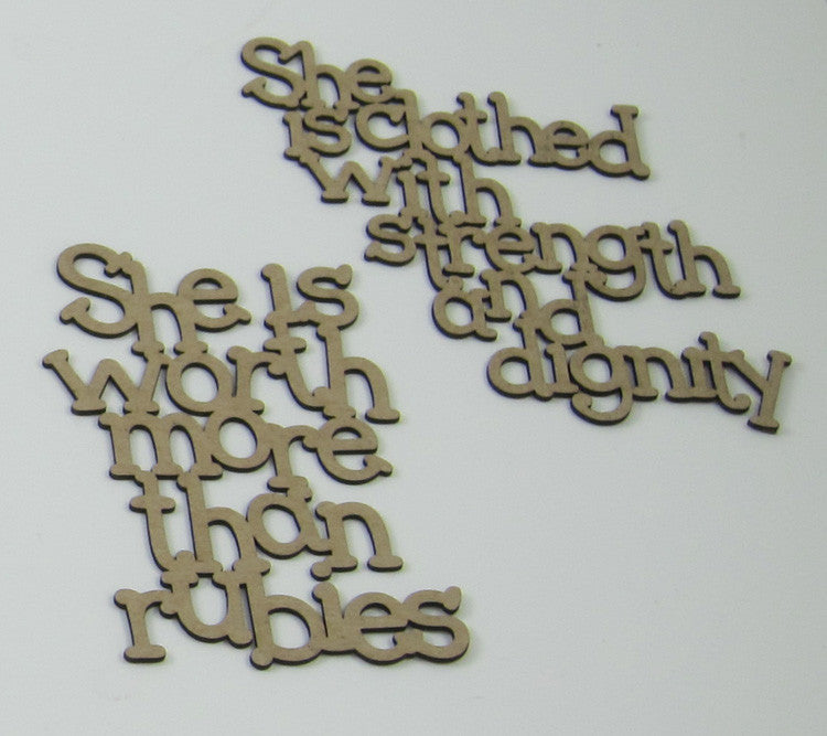 Proverbs 31 Woman Chipboard Small