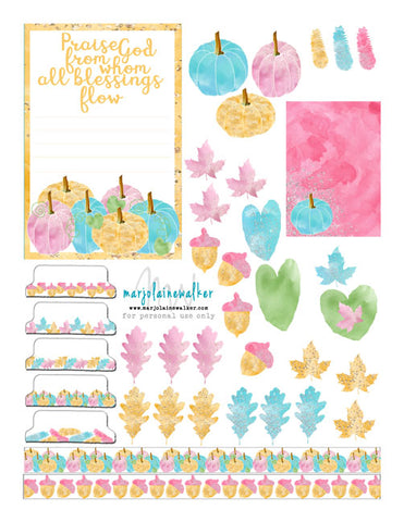 Blessed Bible Journaling Printable