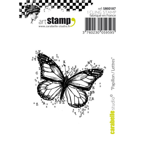 Butterfly-Numbers Cling Stamp
