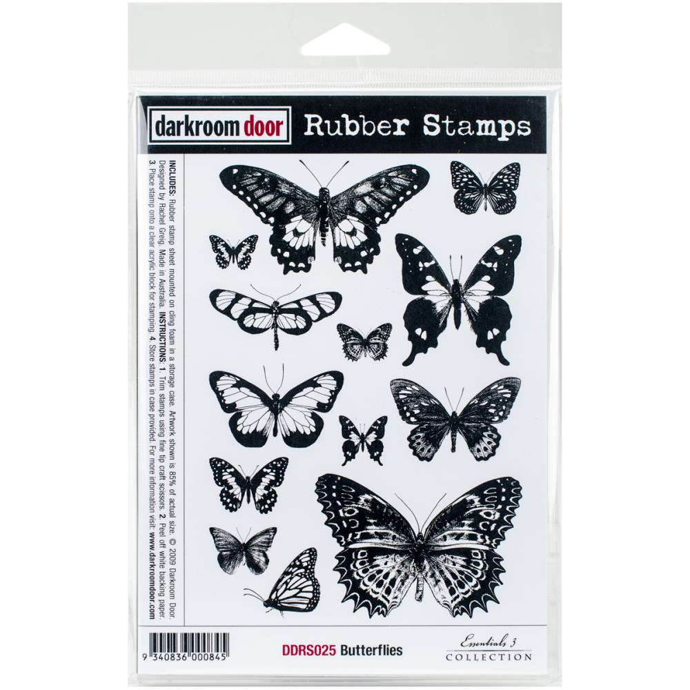 Darkroom Door Butterflies  Cling Stamps