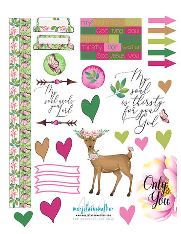 As the Deer Bible Journaling Printable