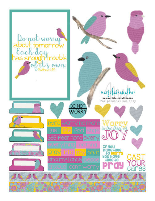 Don't Worry Bible Journaling Printable