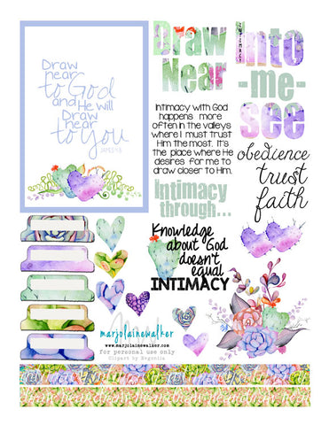 Draw Near Bible Journaling Printable