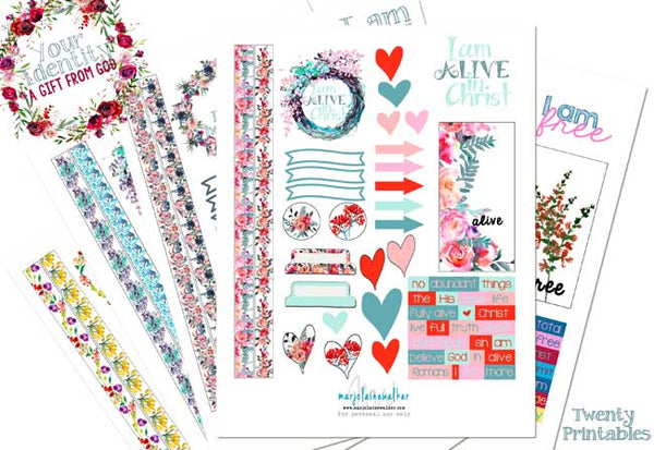 I Am Printables Set of Twenty