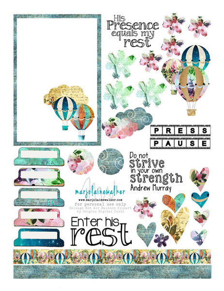 Rest in Him Bible Journaling Printable