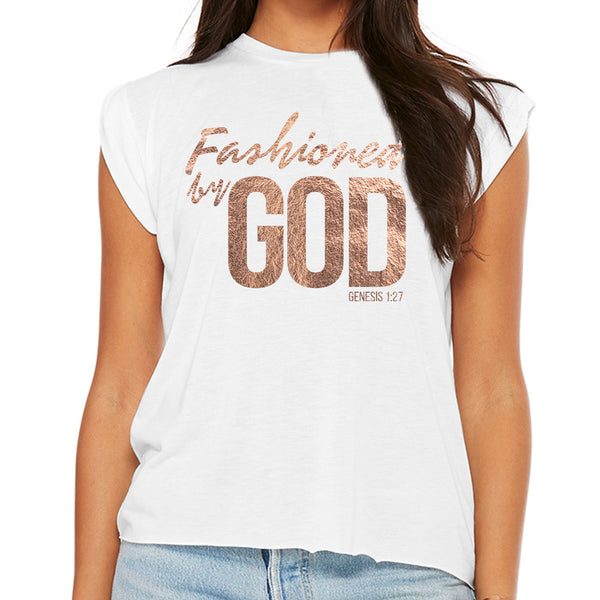 5d5ee8bfd0c54 Fashioned by GOD (Women s Flowy Muscle Tee with Rolled Cuff) – Basik23